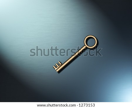 A simple key - stock photo