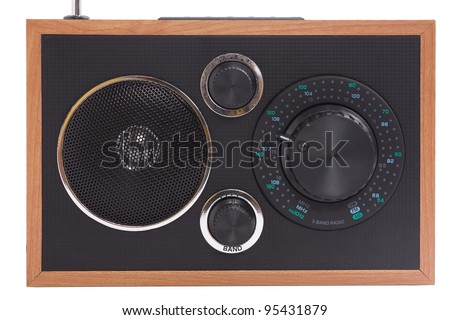 A simple radio and mp3 player; isolated, clipping path included - stock photo