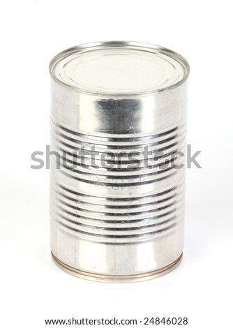 a single aluminium tin can