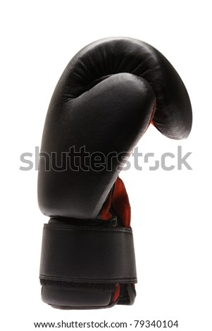 A single boxing glove on a white background.