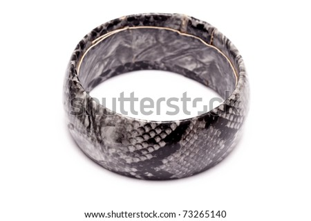 a single bracelet isolated on a white background