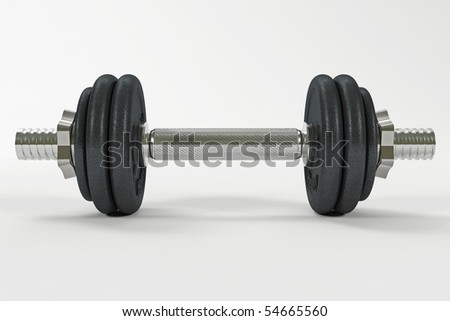 A single dumbbell with clipping path