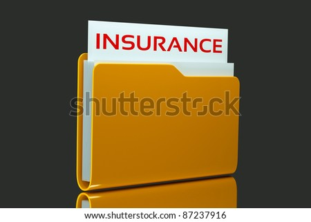a single folder with insurance list