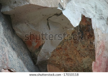 A single hand, painted thousands of years ago. - stock photo