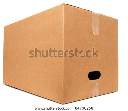 A single large corrugated box - stock photo
