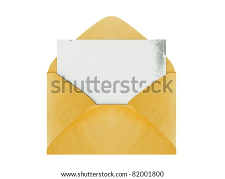 a single mail on white - stock photo