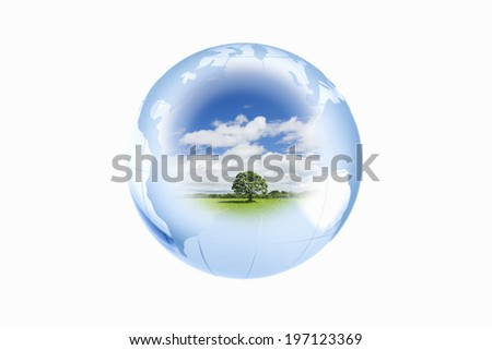 A Single Path In The Earth - stock photo