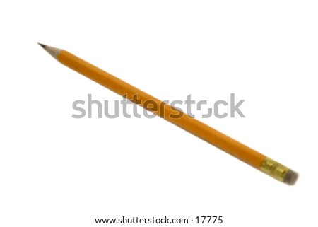 A single pencil isolated on white with clipping path.