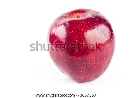 A Single Red Delicious Apple Isolated on White