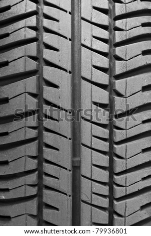 A single tire track in the vertical - stock photo