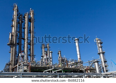 A site of an currently inactive refinery close to Vienna - stock photo