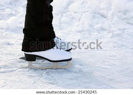 a skates on a skating-rink - stock photo