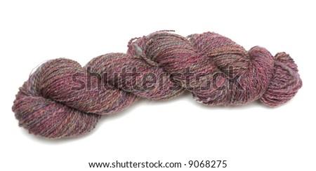 A Skein of Hand Spun Yarn Made From Merino Wool - stock photo