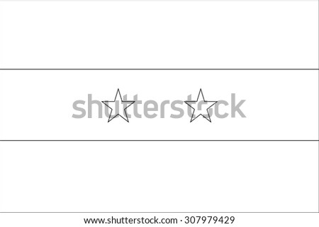 A Skeleton Flag Illustration of the country of  Syria - stock photo