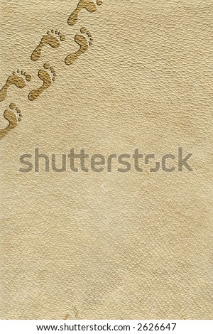 A skin background with small footprints - stock photo