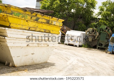 A skip on construction site - stock photo