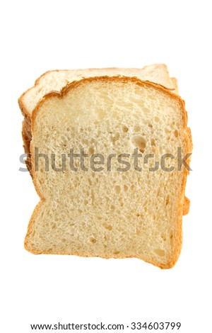 A slice of bread isolated on white background