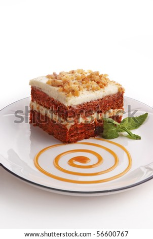 A slice of Carrot Cake - stock photo
