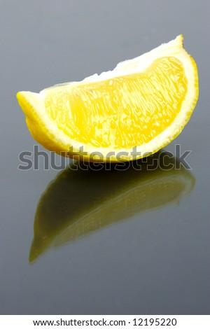 A slice of lemon - stock photo