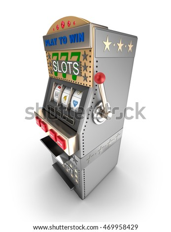 A slot machine, gamble machine. 3D illustration