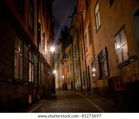 A small alley in Stockholm