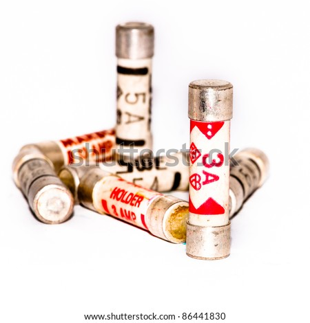 electrical fuse stock images royalty images vectors a small collection of three and five amp fuses shot against a white background