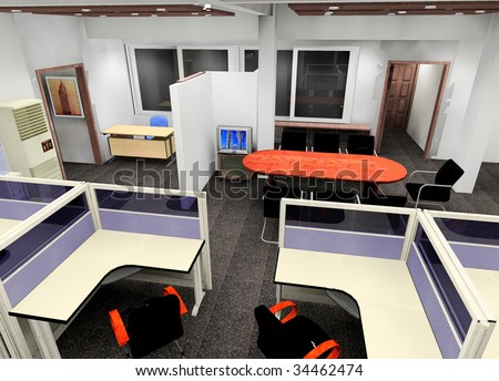 a small corporation office design