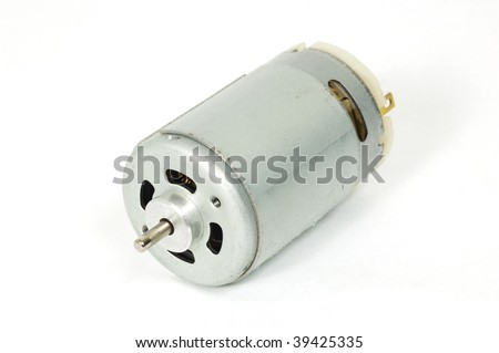 A small DC motor up close