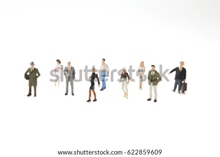 a small figures of business meeting