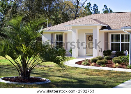 A small neat Florida home - owned by a happy former Ohioan. - stock photo