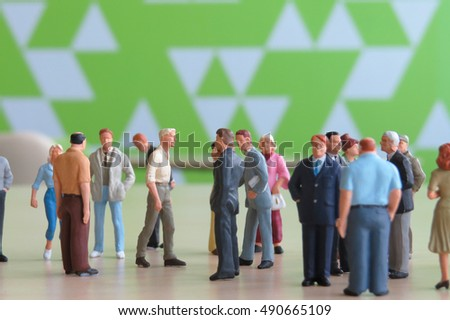 a small of businessman figure at meeting