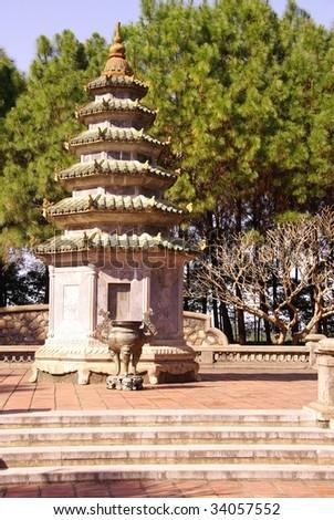 A small pagoda in Vietnam - stock photo