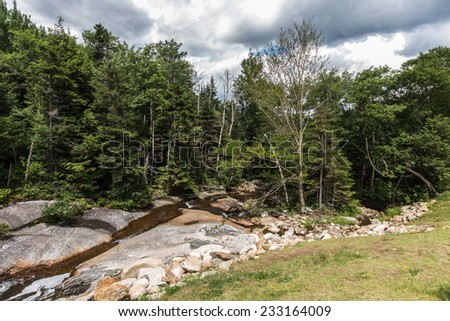 A small river near White Mountains national forest New Hampshire - stock photo