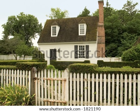 A small rural cottage. - stock photo