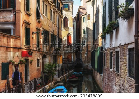 A small street in Venice, Italy