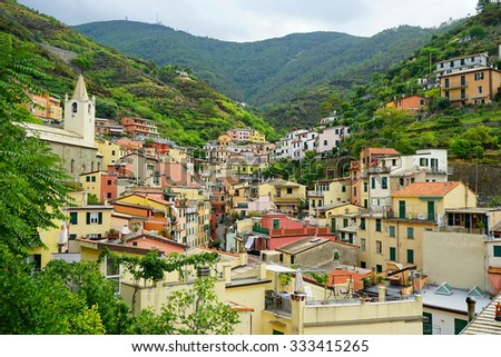 A small town in the area of Cinque Terre, Liguria, Italy
