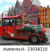 A small train in Bergen - stock photo