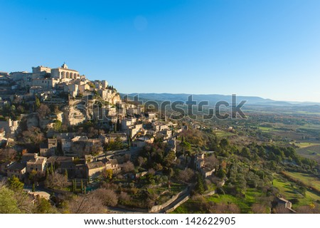 A small village in Provence, France - stock photo