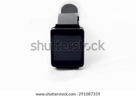 A smartwatch on a white seemless background. - stock photo