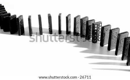 A snake of dominoes  - stock photo