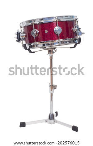 A snare drum on a white background - stock photo