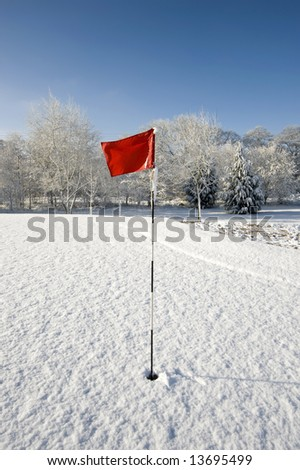 A snow covered rural landscape in the countryside - stock photo