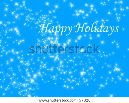 a snow flake winter background with merry christmas written on it - stock photo