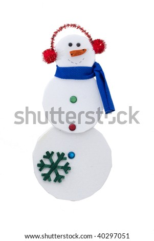 A Snowman isolated on a white background, snowman