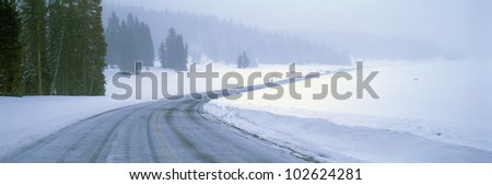 A Snowy Route 14, Near Cedar Breaks National Park, Utah