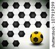A soccer ball as creative background - stock photo