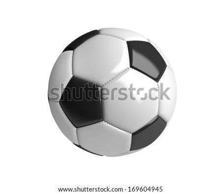 A soccer ball isolated on a white background.  (org. size: 3000x2500px)  - stock photo