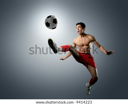 a soccer player - stock photo