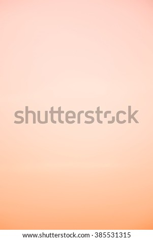 A soft cloud background with a orange pastel colored - stock photo