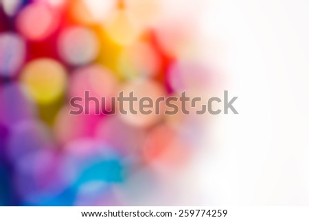 A soft focus blur in beautiful colors. Dreamy spectrum of colors. - stock photo